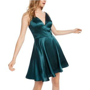 Blondie Nites Junior's Lace-Up Back dress 3 Green